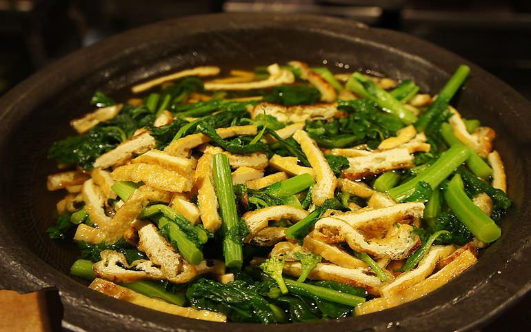 小松菜とお揚げのおひたし