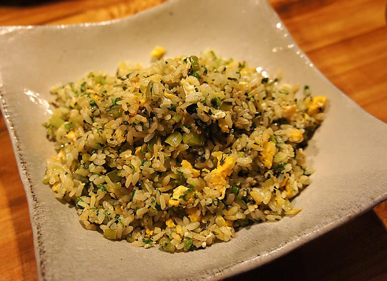 野沢菜のチャーハン